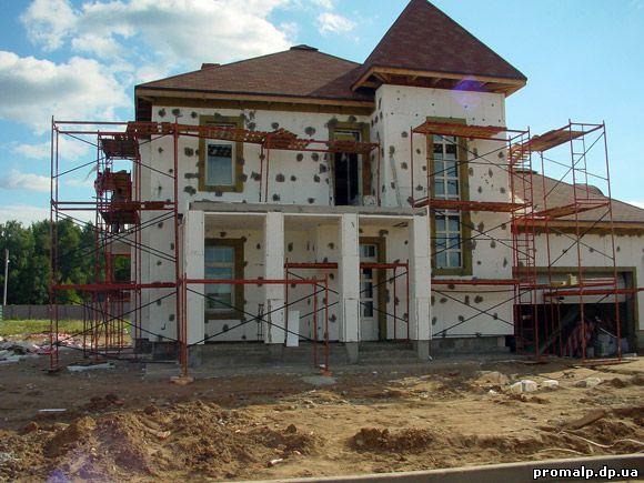 Отделка фасадов частных домов фото штукатурка